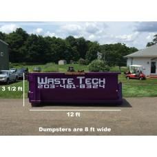 10 yard dumpster rental - 1 ton included - 2 week rental - $345