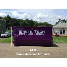 20 yard dumpster rental - 1.5 tons included - 1 week rental - $425